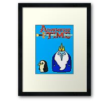 ADVENTURE TIME WITH ICE KING AND GUNTER Framed Print