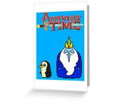 ADVENTURE TIME WITH ICE KING AND GUNTER Greeting Card