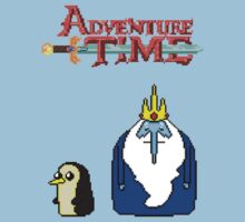 ADVENTURE TIME WITH ICE KING AND GUNTER by Joshua holt