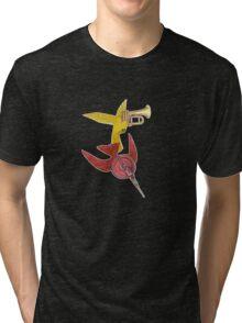 M Blackwell - Two Birds... Tri-blend T-Shirt