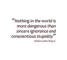 Sincere ignorance and conscientious stupidity... (Amazing Sayings) by gshapley