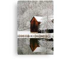 Winter Mirror Canvas Print