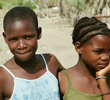 Two Wistful Young Girls by Carole-Anne