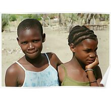 Two Wistful Young Girls Poster