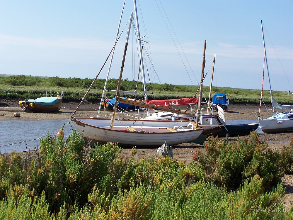 Blakeney Boats by Fiona Parkin