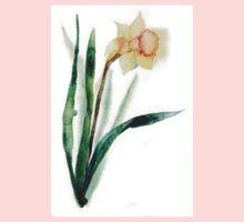 watercolor flower narcissus Kids Tee