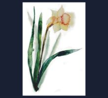watercolor flower narcissus Kids Clothes