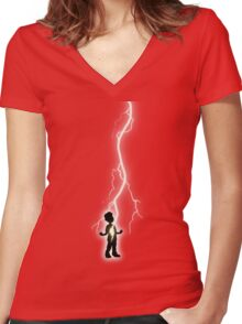 With One Magic Word... Women's Fitted V-Neck T-Shirt