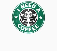 I need a coffee! Womens Fitted T-Shirt