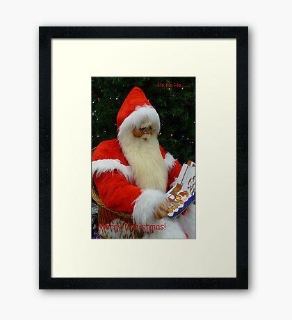 Ho Ho Ho....Merry Christmas. Framed Print