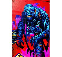 Found Mummy Graffiti Photographic Print