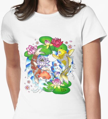 The Tao of Koi Womens Fitted T-Shirt