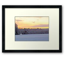 January Sky Framed Print