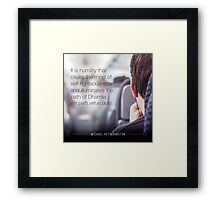 Humility Framed Print