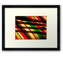Cross Hatched Framed Print