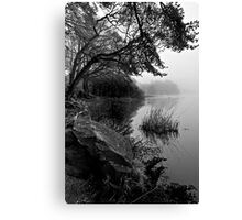 Lake Of Menteith - Misty Shores Canvas Print