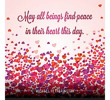 Peace in the Heart Prayer Photographic Print