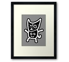 black ZEFCAT Framed Print
