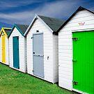 Beach Hut Series 9 by Amanda White