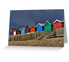 Beach Hut Series 10 Greeting Card