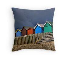 Beach Hut Series 10 Throw Pillow