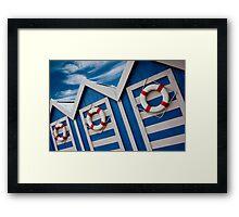 Beach Hut Series 13 Framed Print