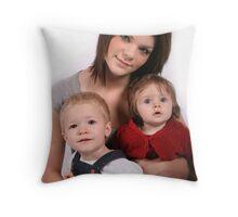 siblings Throw Pillow
