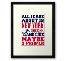 ALL I CARE ABOUT IS NEWYORK SOCCER Framed Print