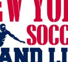 ALL I CARE ABOUT IS NEWYORK SOCCER Sticker