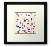 Watercolor Confetti Framed Print