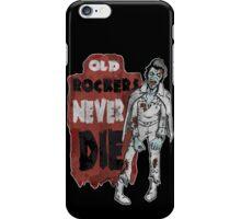 """""""Old Rockers Never Die"""" iPhone Case/Skin"""