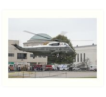 Presidential Helicopter Art Print