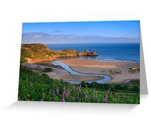 Three Cliffs Bay Greeting Card