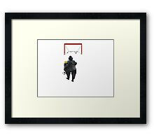 Soccer player Framed Print