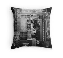 bibliophool Throw Pillow