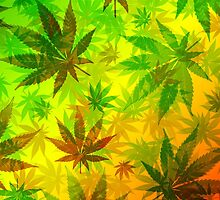 Marijuana Cannabis Leaves Pattern by BluedarkArt