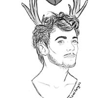 Louis deer tattoo by officialfangirl