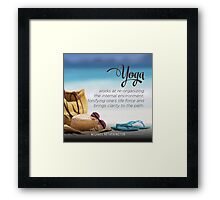 Yoga Brings Clarity to the Path Framed Print