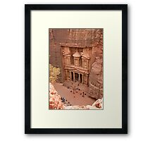 Looking Down on the Treasury Framed Print