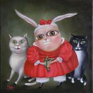 "Family Portrait  12"" x 12"" x 1""  Original Painting - Sold by Irena Aizen"