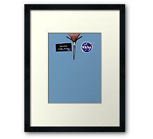 Chesty Spaceman Framed Print