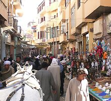 Street market in Luxor (Egypt) by dgethin