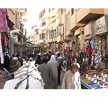 Street market in Luxor (Egypt) Photographic Print
