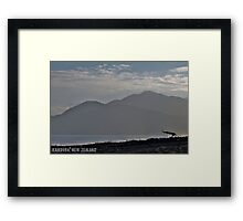 Beach Hut, Kaikoura, NZ Framed Print