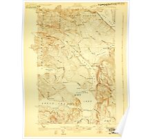 Maine USGS Historical Map Square Lake 807687 1927 48000 Poster