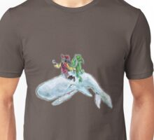 The Pirate, the alien and the whale Unisex T-Shirt