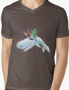 The Pirate, the alien and the whale Mens V-Neck T-Shirt