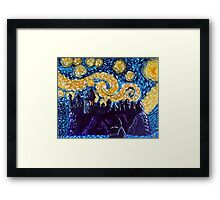 Hogwarts Starry Night Framed Print