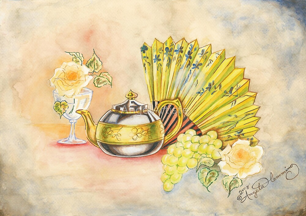 The Tea Pot And The Fan  by AngelArtiste
