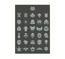 Mask Collection Art Print
